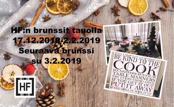 Happy Friendsin brunssi seuraavan kerran su 3.2.2019