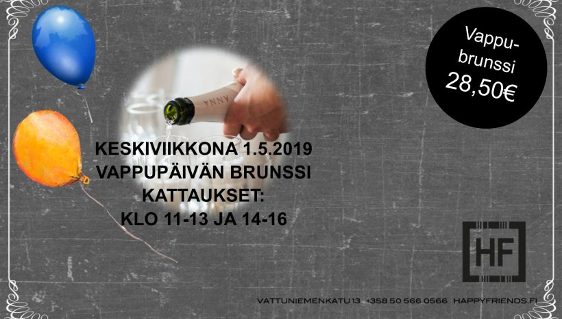 Happy Friendsin Vappubrunssi 1.5.2019